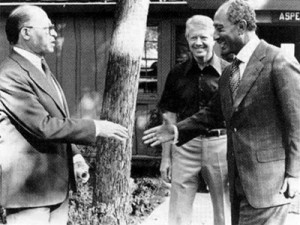 From Left To Right, Begin, President Carter and Sadat